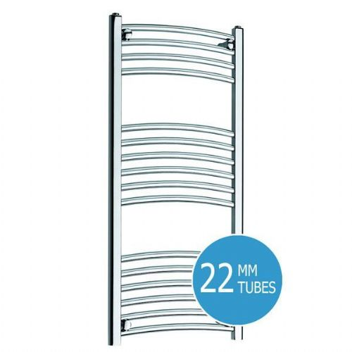 Kartell K-Rail Curved Towel Rail - 500mm x 1000mm - Chrome